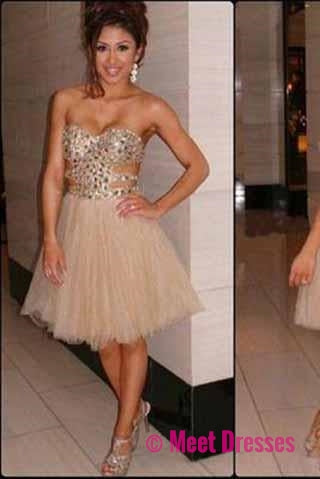 Short Prom Dresses,2018 Homecoming Gowns,Tulle Homecoming Dresses ...