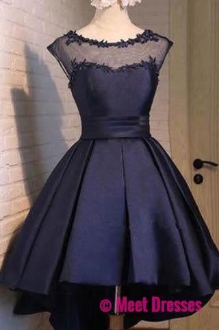 Black Satin Classy Sexy Party Dress,Charming Graduation Dress,Homecoming Dresses,H150