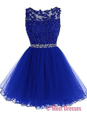 Royal Blue Sweet 16 Dresses Short