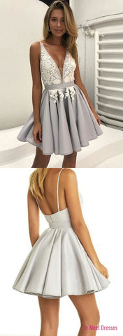 Short Prom Dress,Backless Homecoming Dress,Gradutaion Dress,2018 Homecoming Dresses PD20189779