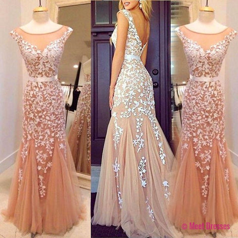 Lace Prom Dress,Sexy Prom Dress,Tulle Prom Dress,Evening Dress, Long Prom Dresses,Mermaid Prom Dress For Women PD20185175