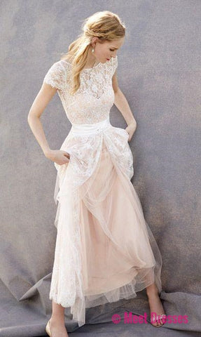 Lovely Wedding Dresses,Blush Pink Wedding Gown,Tulle Wedding Gowns ...