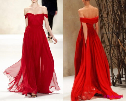 Red Prom Dresses,Simple Evening Dress,A line Prom Dress,Cheap Prom ...