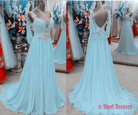 Light Blue Prom Dress 2018
