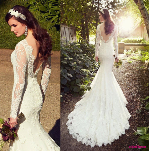 White Wedding Dresses,Long Sleeves Wedding Gown,Lace Wedding Gowns,Ball Gown Bridal Dress,Princess Wedding Dress,2018 Beautiful Brides Dress With Long ...