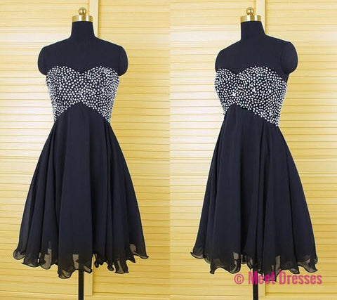 Black Homecoming Dress,Homecoming Dresses,Homecoming Gowns,Beading Party Dress,Short Prom Gown,Sweet 16 Dress,Strapless Homecoming Dresses,Cheap Formal Dress PD20183730