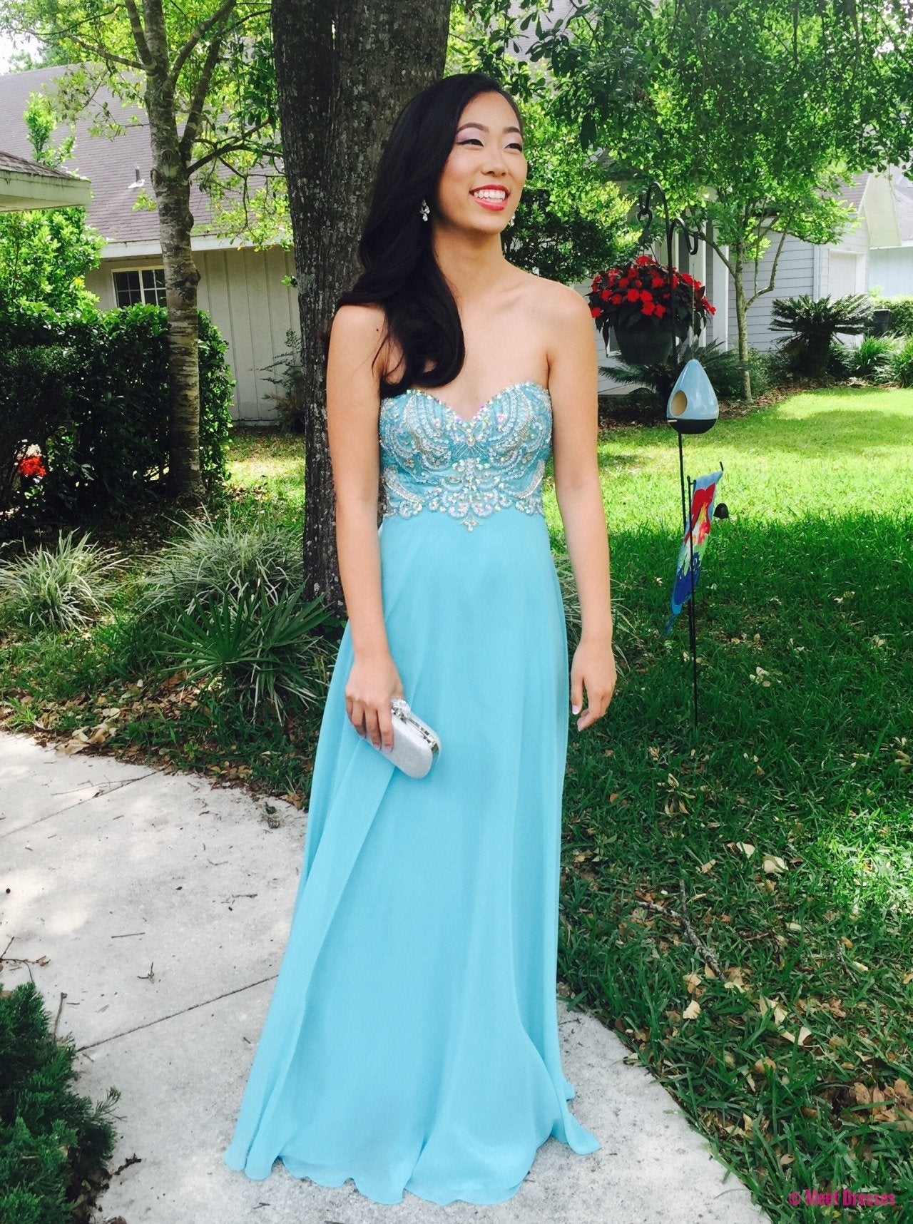 Light Blue Prom Dresses,Sweetheart Prom Gowns,Sparkle Prom Dresses ...