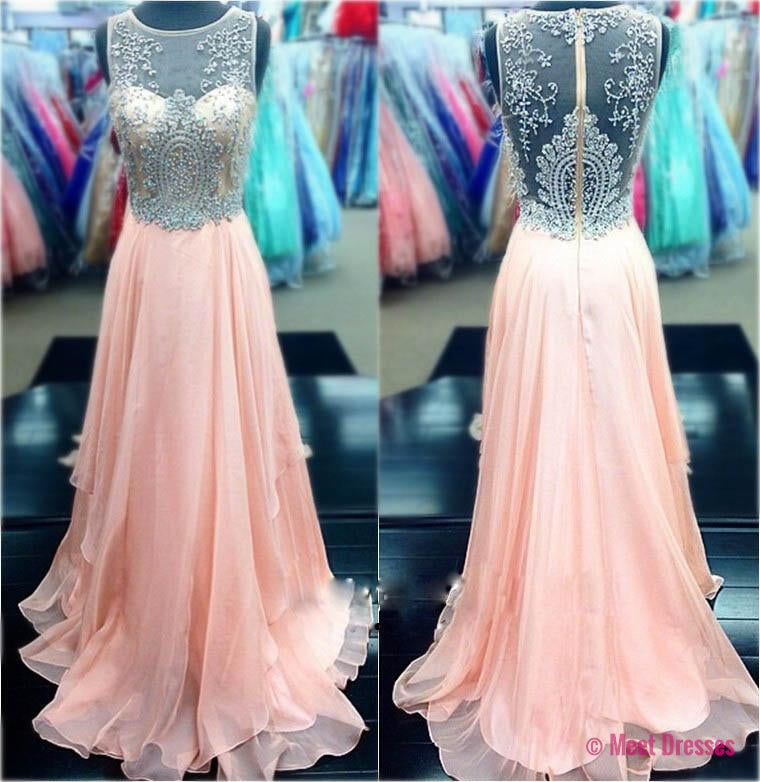 Pink Prom Dresses,Pink Evening Gowns,Simple Formal Dresses,Prom ...