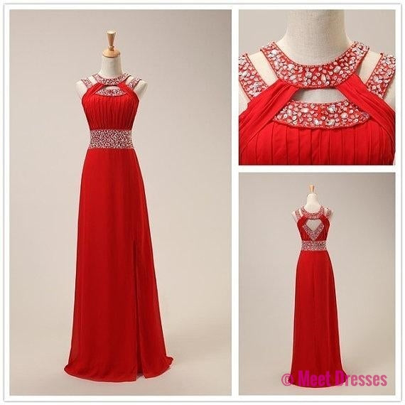 Red Prom Dresses,Open Back Prom Gowns,Backless Prom Dresses,Sparkle ...