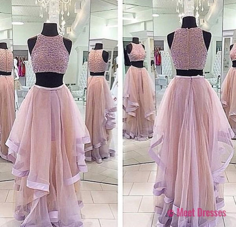 A Line Prom Gown,Two Piece Prom Dress,Evening Gowns,2 Pieces Party Dresses,2 Pieces Formal Gown For Teens PD20182923