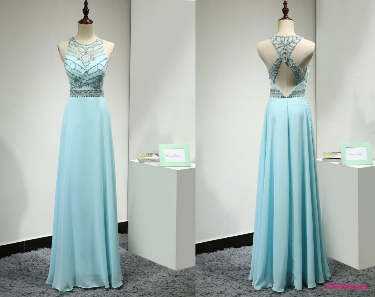 Light Blue Prom Dresses,Prom Gowns,Sparkle Prom Dresses,2018 Party ...