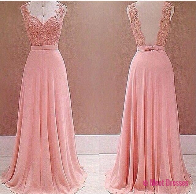 2018 Prom Dresses,Pink Evening Gowns,Lace Formal Dresses,Prom Dresses,2018 Fashion Evening Gown,Beautiful Evening Dress,Pink Formal Dress,Lace Prom Gowns PD20182699