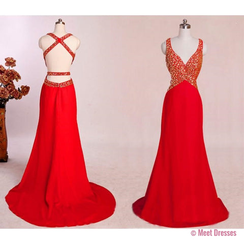 Backless Dress, Mermaid Prom Dresses, Red Prom Dress, Unique Prom Dresses, Sexy Prom Dresses, Prom Dresses, Popular Prom Dresses, Dresses For Prom PD20182644