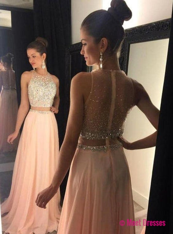 2 piece Prom Dresses,2 Piece Prom Gown,Two Piece Prom Dresses,Prom Dresses,New Style Prom Gown,2018 Prom Dress,Prom Gowns PD20182536