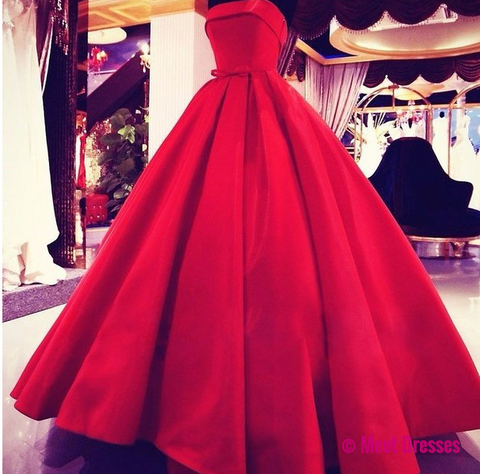 Evening gown red dresses
