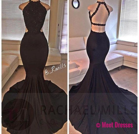 Prom Dresses,Mermaid Prom Dress,Lace Prom Dress,Backless Evening Gowns PD20186678
