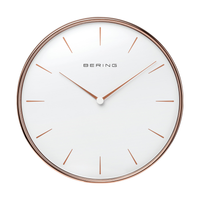 Wallclock |Sale | polished rose gold | 90292-64R