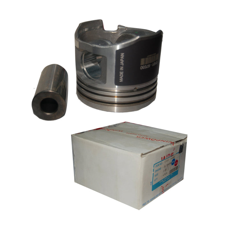 Piston W/Pin ,Ring Sets, R, 1KZ, 1.00, 13101-67030, 23218J (001460) - Win Store