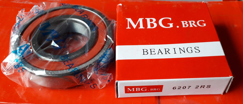 Deep Groove Ball Bearing, MBG, 6207 2RS , (028703)