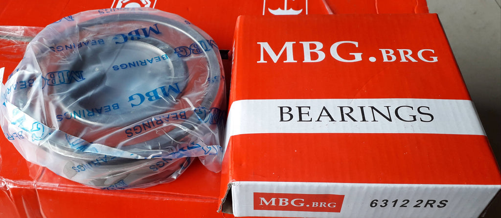 Deep Groove Ball Bearing, MBG, 6312 2RS, (028717)