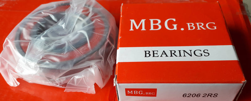 Deep Groove Ball Bearing, MBG, 6206 2RS , (028702)
