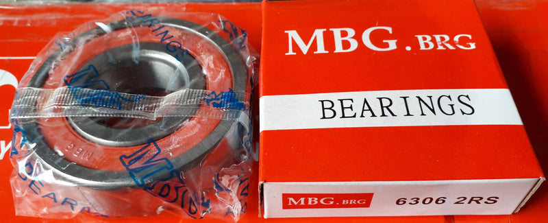 Deep Groove Ball Bearing, MBG, 6306 2RS , (028711)