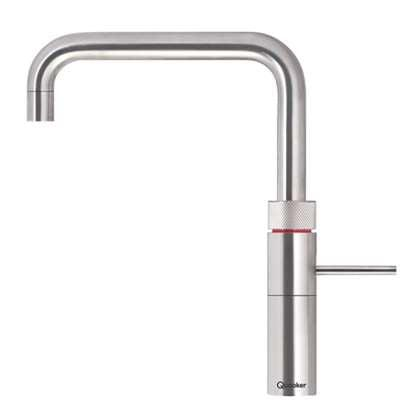 Quooker 3FSRVS PRO3 Fusion Square 3-in-1 Boiling Water Tap in Stainless Steel