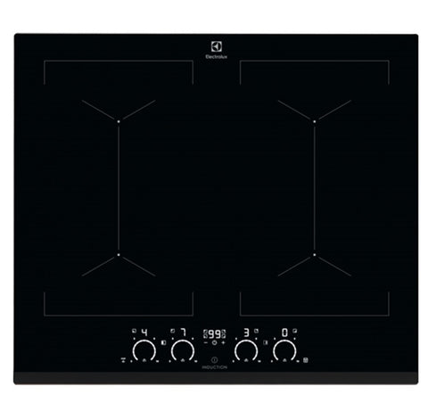 Electrolux KIV6446 4 Zone Induction Hob 60cm - Black