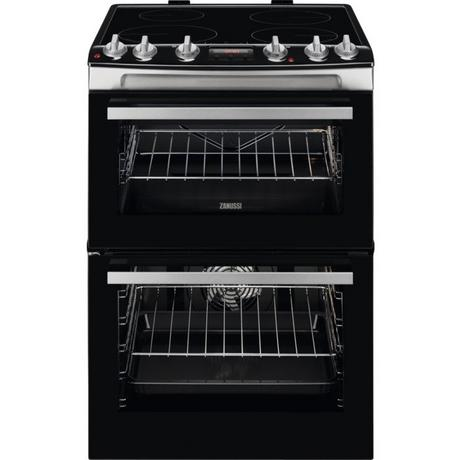 Zanussi ZCI66278XA 60cm Electric Double Oven with Induction Hob - Stainless Steel - A/A Rated - Euronics * * 1 ONLY LEFT * *