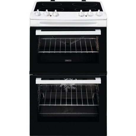 Zanussi ZCV46050WA 55cm Electric Double Oven with Ceramic Hob - White - A/A Rated - Euronics * * ONLY 2 LEFT * *