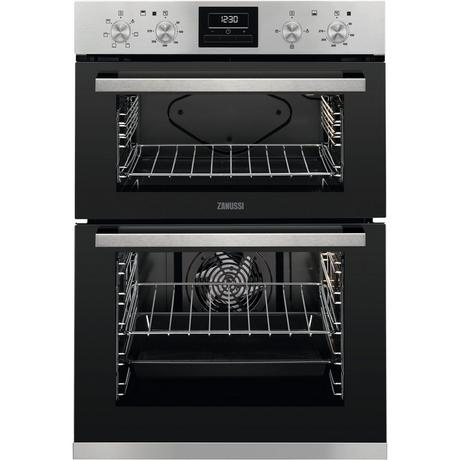 Zanussi ZOA35660XK Built In Electric Double Oven - Stainless Steel - A Energy Rated Euronics  * * ONLY 2 LEFT AT THIS PRICE * *
