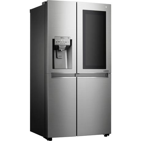 LG ELECTRONICS GSX960NSVZ InstaView Door-in-Door American Style Fridge Freezer - PREMIUM STEEL - A++ Energy Rated Euronics