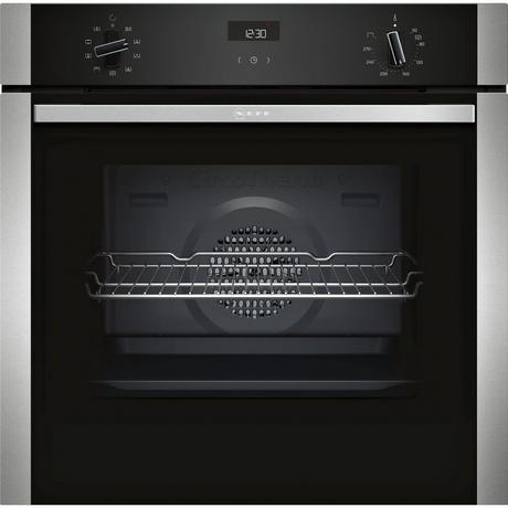 Neff B1ACE4HN0B Electric CircoTherm Single Oven - BLACK/STEEL - A Energy Rated Euronics