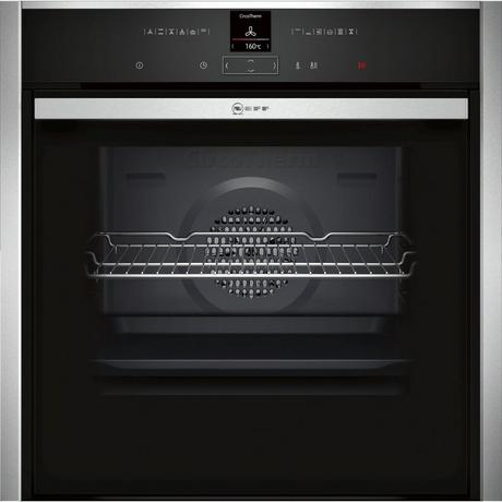 Neff B57CR23N0B Pyrolytic Slide & Hide Built In Electric Single Oven - Stainless Steel - A+ Rated Euronics