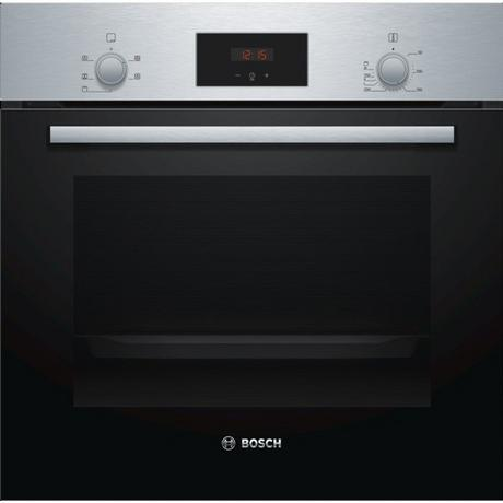 Bosch HHF113BR0B Serie 2 Built In Electric Single Oven with 3D Hot Air - Stainless Steel - A Rated Euronics
