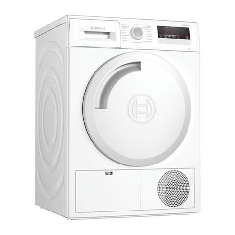 Bosch WTN83201GB 8kg Condenser Tumble Dryer - White - B Energy Rated Euronics