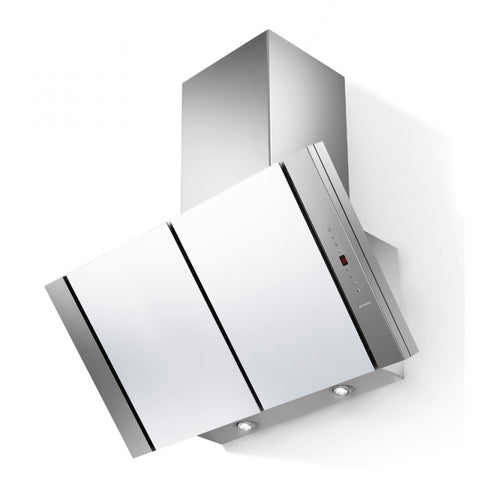 Faber Discovery Silk White Glass Chimney Hood * * HALF PRICE OFFER - 1 ONLY TO CLEAR * *