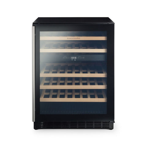 Rangemaster RDZ6046BL 126170-60cm Freestanding Under Counter Dual Zone 46 Bottle Wine Cabinet, Black