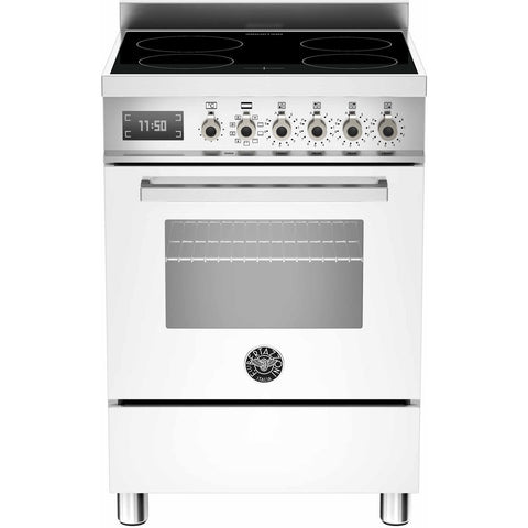 Bertazzoni 60cm Professional range cooker with 4 zone induction and 1 electric oven White-Appliance People