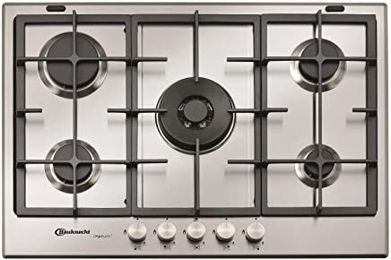 Bauknecht TGW6572IXL 73cm wide   5 burner gas hob with 3 years warranty  * * ONLY 2 LEFT * *