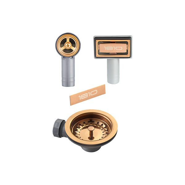 The 1810 Company WASTE KIT FOR SINGLE BOWL SINK – COPPER Accessories Copper-Appliance People