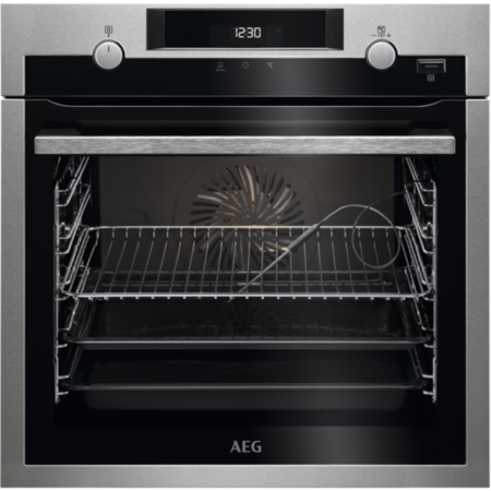 AEG BCS556020M Steambake Catalytic Built in Single Oven- Stainless Steel