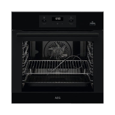 AEG BEB355020B SteamBake Black Built in Single Oven - Black * * 2 ONLY LEFT AT THIS PRICE * *