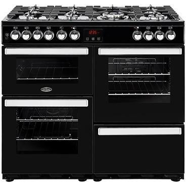 Belling Cookcentre 100DF 100cm Dual Fuel Range Cooker Black-Appliance People