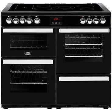 Belling Cookcentre 100E 100cm Ceramic Range Cooker Black-Appliance People