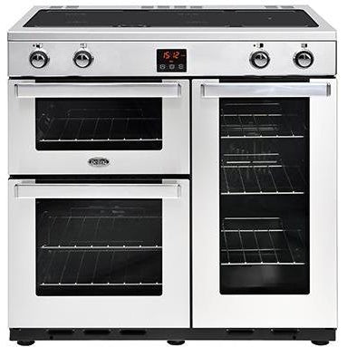 Belling Cookcentre 90EI 90cm Induction Range Cooker Stainless Steel-Appliance People