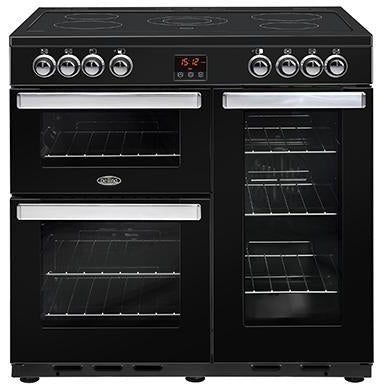 Belling Cookcentre 90E 90cm Ceramic Range Cooker Black-Appliance People