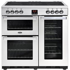 Belling Cookcentre 90E 90cm Ceramic Range Cooker Stainless Steel-Appliance People