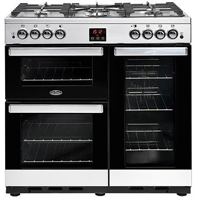 Belling Cookcentre 90G 90cm Gas Range Cooker Stainless Steel-Appliance People