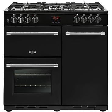 Belling Farmhouse 90DFT 90cm Dual Fuel Range Cooker Black-Appliance People